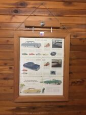 Hudson 1953 Sales Brochure Framed High Quality Piece Double Sided