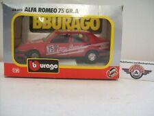 """Alfa Romeo 75 GR.A #75 """"Alfa Romeo"""", 1985, red, Bburago 1:24 (Italy), OVP"""