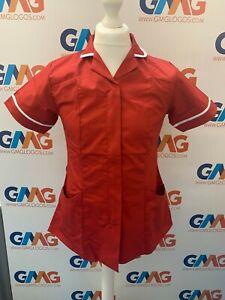 Red and White Healthcare Tunic Red/White tunic Nurse Uniform Hospital Tuincs