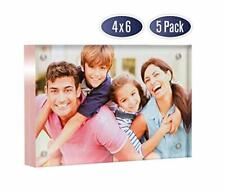 Acrylic Picture Frame 4x6 with Rose Gold Edges (5 Pack)