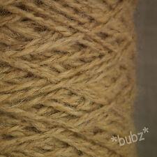 BERBER RUG MAKING WOOL BEIGE TWEED 400g CONE LATCH HOOK CARPET WEAVE YARN BB43