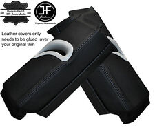 BLACK STITCHING 2X UPPER B PILLAR LEATHER COVERS FITS AUDI A5 COUPE 2007-2014