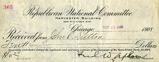 Frederick W. Upham - Receipt Signed 09/11/1908