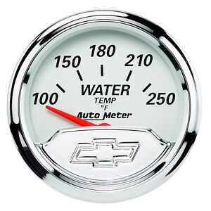 Autometer 1337-00408 Air-Core SSE Coolant Temperature Gauge 100-250F for Chevy