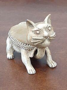 Florenza Nodding Cat Vintage Pin Cushion 1960s Signed Figurine