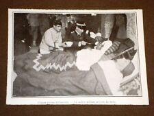 Terremoto in Calabria 23 ottobre 1907 Ferruzzano Medico militare soccorre ferito