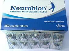 50 TABLETS NEUROBION VITAMINS OF THE B GROUP B1 B6 B12 NEUROTROPIC VITAMIN MERCK