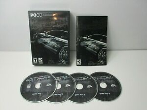 Need for Speed: Most Wanted Black Edition (PC 2005) 4-disc w/Manual NO Bonus DVD
