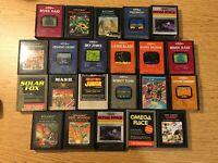 Lot of 22 Atari 2600 Video Game Cartridges-  Non-working Parts/Repair