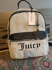 Juicy Couture Womens Star Is Born Gray Canvas Backpack Purse Medium BHFO 1287