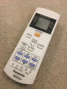 PANASONIC REMOTE CONTROL CWA75C4347 Suitable Cassette CS-E12QB4RW CS-E18QB4RW