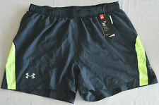 """New Men's Under Armour Launch 5"""" Running Shorts Fitted Gray XL 1274512"""