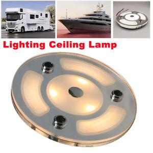 DC 12V-24V Car Lighting Ceiling Lamp Touch Screen Warm White Light Reading Lamp
