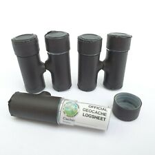5 x Ready to Hide MICRO MAGNETIC Geocaches w/LABEL LOG SHEET WATERPROOF