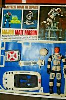 "major matt mason Mattel sled Jetpack+helmet -[repro card + 6"" figure ]FREE ship"