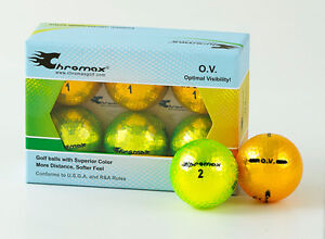 Chromax Metallic Optimal Visibility Golf Balls 6 Ball Pack - Can be Personalised