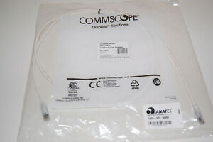 CommScope CAT6 5' RJ45 Snagless Cable White UNC-WH-5F NEW