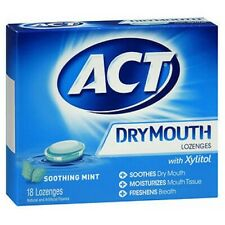 Act Dry Mouth Lozenges Mint 18 Each by Act