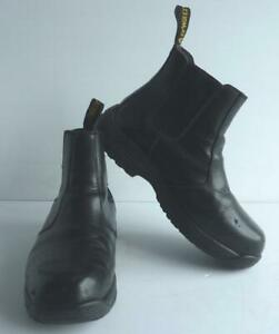 DR MARTENS INDUSTRIAL AIR WAIR STEEL TOE CAP SLIP-ON SAFETY BOOTS, SIZE 7, UK,