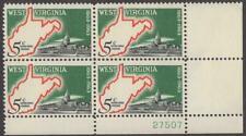 Scott # 1232 - Us Plate Block Of 4 - West Virginia Statehood - Mnh - 1963