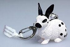 Schleich 82819 Schlüsselanhänger Kaninchen weiss/schwarz Limitiert Neu