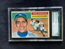1956 topps hi-end set break #113 Phil Rizzuto gray Back sgc 7