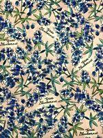 Fat Quarter Texas Bluebonnets Flowers Cotton Novelty Quilt Fabric Pink Blue FQ