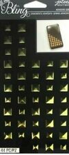 Studs Metallic Gold Square Pyramid Gems Bling Jolee's Stickers Crafts Scrapbook