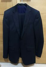 Preloved M&S Slim Fit Indigo Men's Suit 34L Jacket and 28in inside leg