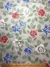 Vintage Cotton Fabric 40s PRETTY Chic not Shabby Roses 35w 1yd
