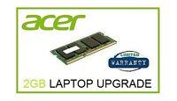 2GB Ram Memory Upgrade Acer Aspire One D255e (Atom N570 1.66Ghz) Netbook Laptop
