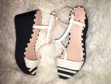 83aed219c42 Kate Spade New York Tallin Wedge Sandals Black White sz 10 new