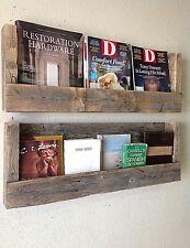 Reclaimed Barn Wood Shelves - Set of 2 - Rustic Farmhouse Bookshelf Wall Storage