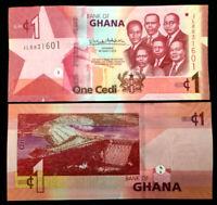 Ghana 1 Cedi Banknote World Paper Money UNC Currency Bill Note