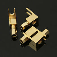 9 MM Gold Plated Banana Plug Spade Fork For Mcintosh Fisher-Eico Adapter 4 Pcs