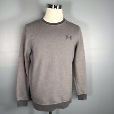 Under Armour Fitted ColdGear Men's Top M Medium Gray Striped Gray Logo L/S