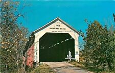 Turkey Run St Pk Indiana~Cox Ford Bridge over Sugar Creek Est 1913~1950 Postcard