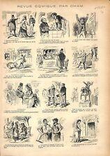 Oeufs de Pâques à la Coque Foire aux Jambon Pain d'épices par Cham GRAVURE 1876