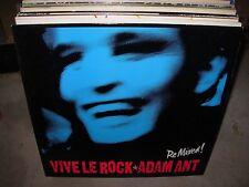 "ADAM ANT vive le rock ( rock ) 12"" PROMO"