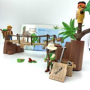 Playmobil 3016 Jungle Adventure Alligator Ravine with Explorers Inca Indians etc