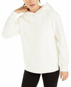 Calvin Klein Performance Sherpa Logo Pullover Hoodie, Cloud, M