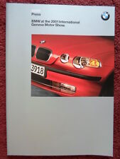 BMW Group 2001 Press Pack - M3 Convertible X5 M Coupe & Roadster 750hL SMG Z3