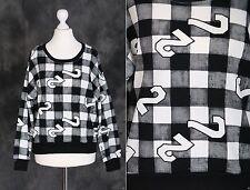 T-31 noir blanc à carreaux Motif punk gothique sweat pull Japon harajuku