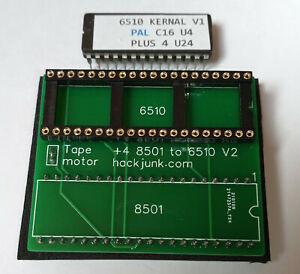 Commodore Plus 4 8501 CPU replacement board and EPROM