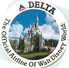 The Official Airline of WALT DISNEY WORLD ~DELTA~ Great Luggage Label / Decal