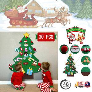 Kids Christmas Felt Tree Set DIY Xmas Gifts Door Ornaments Wall Hanging Decor