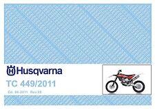 Husqvarna Parts Manual Book 2011 TC 449