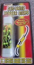 Day-Brite Bobber Stops 12 knots and 12 beads in reusable tube New in package