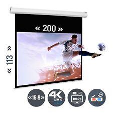 Beamer Leinwand Rolloleinwand Heimkino 88 Zoll 200 x 113 / 16:9 Full HD 3D 4K