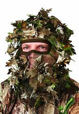 REALTREE XTRA GREEN CAMO GILLIE GHILLY STYLE LEAFY MESH HEAD NET FACE MASK